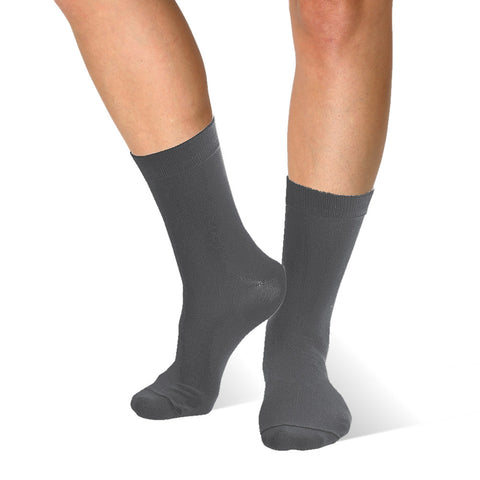 Far infrared Circulation Crew Socks in Dark Gray