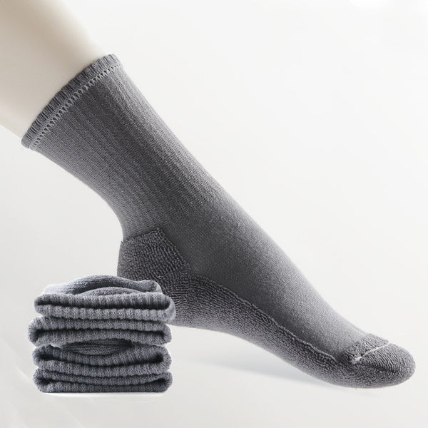Grey  Inside Cotton Terry-Loop Socks