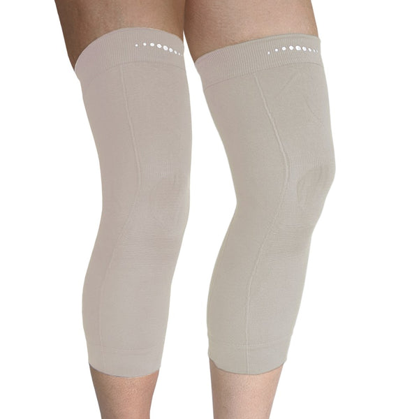 Pair of Far Infrared therapeutic Circulation Knee Bands in Beige
