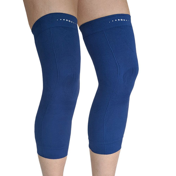 Pair of Far Infrared therapeutic Circulation Knee Bands in Navy Blue