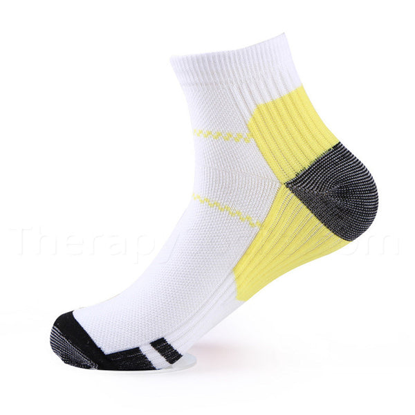 Buy Compression Ankle Socks for Plantar Fasciitis - Yellow