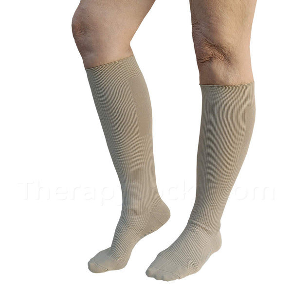 NEW Bioceramic Medical Compression Socks: 15-20 mmHg - Buy Beige Compression Socks