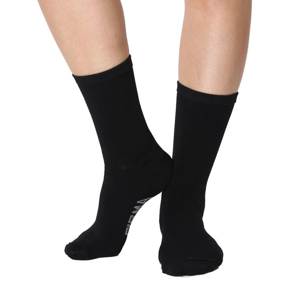 Far infrared Circulation Crew Socks in Black
