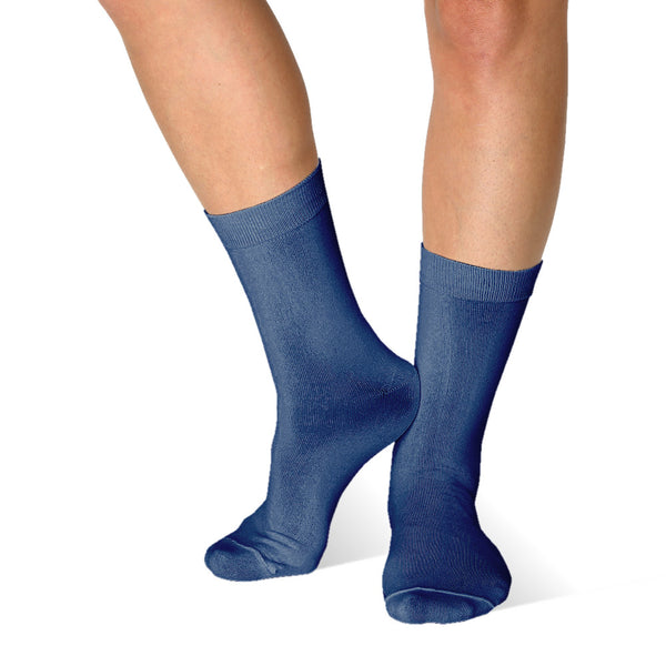 Far infrared Circulation Crew Socks in Navy Blue