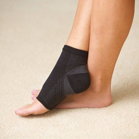 Wearing Elastic Ankle Support Sleeve Socks