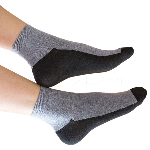 Medium Sized Graphine Far Infrared Therapy Socks - Light Gray