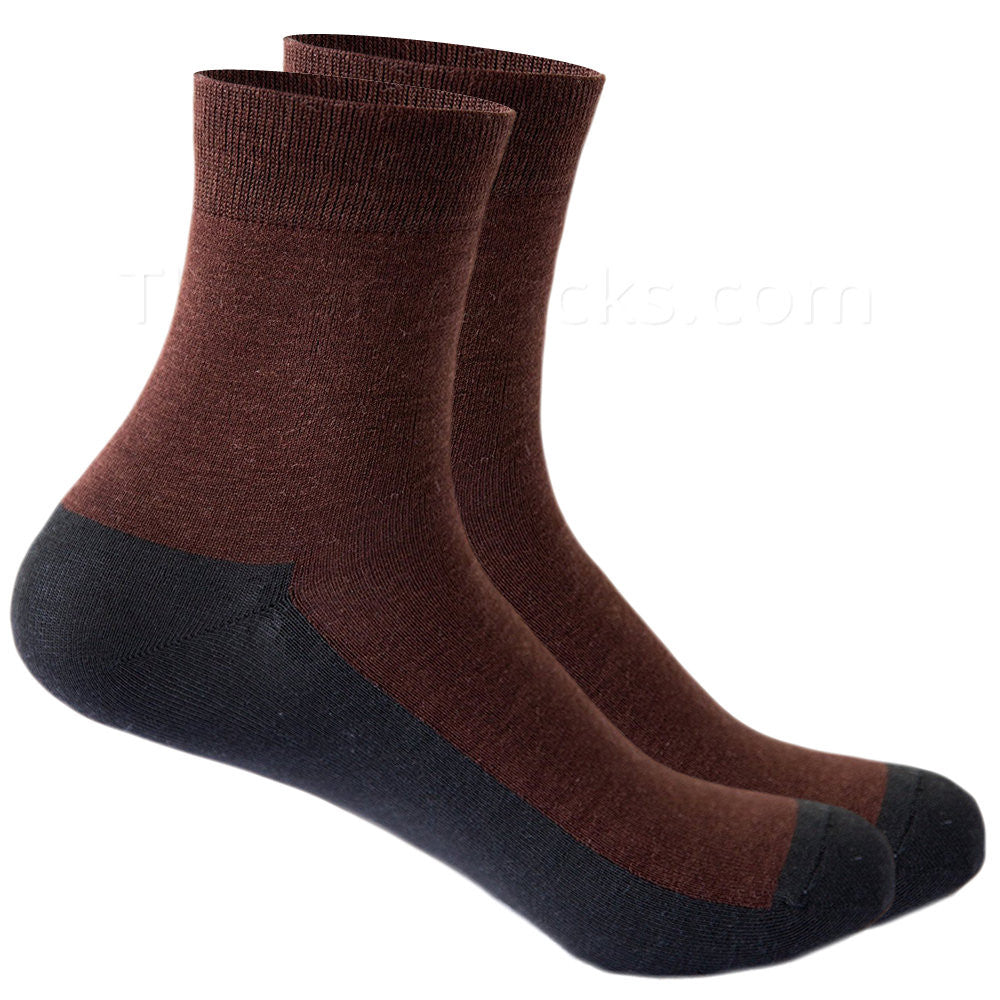 Graphine Far Infrared Therapy Socks Rust Brown Tops