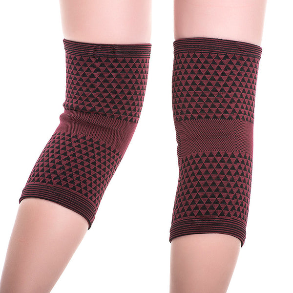 Rear View Far Infrared Tourmaline Knee Support - Red