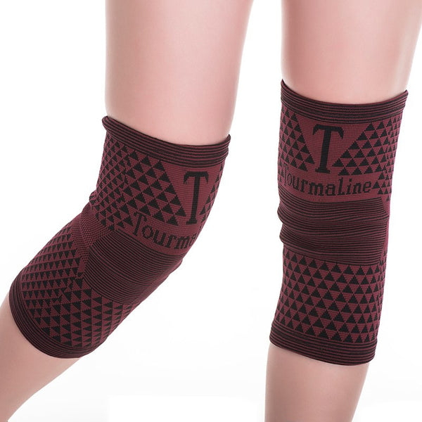 Far Infrared Tourmaline Knee Support - Red