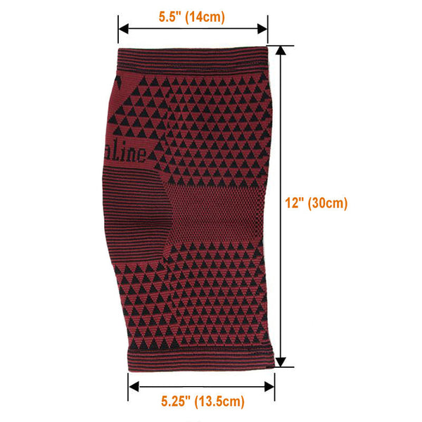 Measurements Far Infrared Tourmaline Knee Support - Red