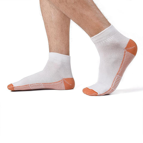 "White Fatigue Reducing Miracle ""COPPER"" Ankle Socks"