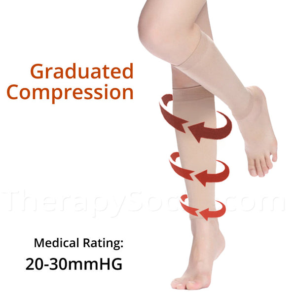 Graduated Compress Sleeves for your Calves 20-30 mmhg