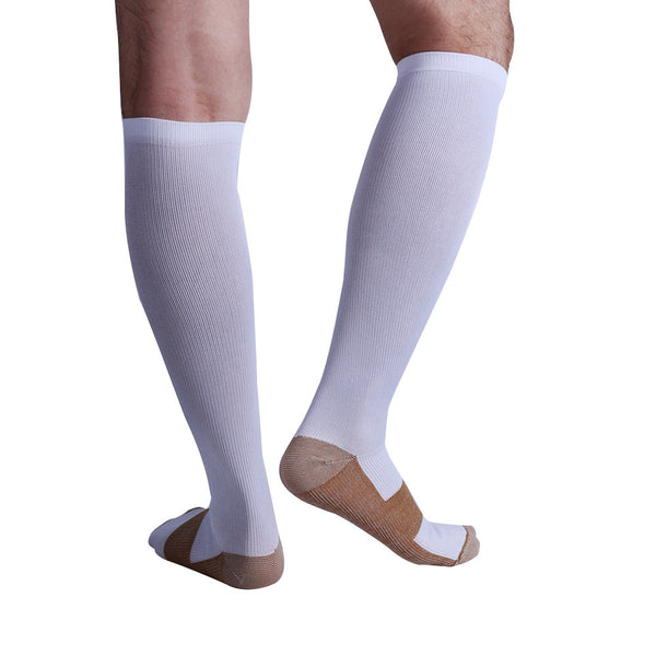 Back View Copper Anti-Fatigue Compression Knee High Socks