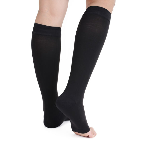 Side view No Toe Anti-Fatigue Compression Knee High Stockings