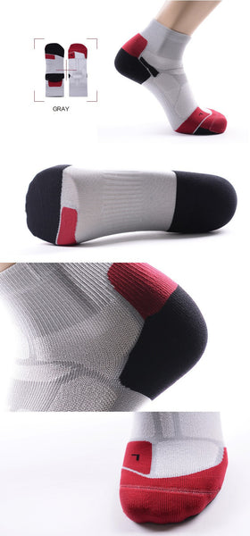 Views of Gray CoolMax Compression Sports Socks