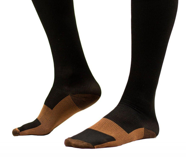 Foot of Copper Anti-Fatigue Compression Knee High Socks
