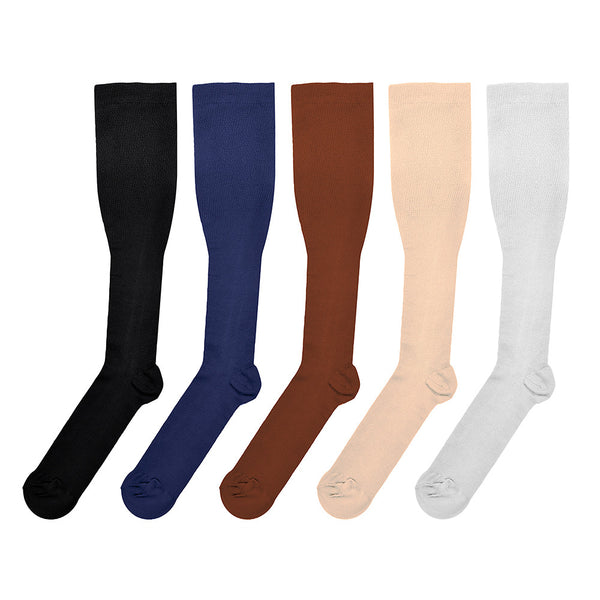 Five Colors Unisex Knee High Compression Socks