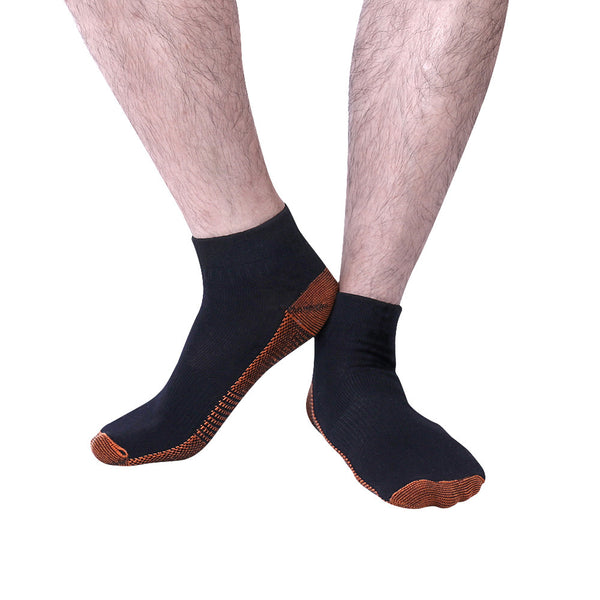"Front view Fatigue Reducing Miracle ""COPPER"" Ankle Socks"