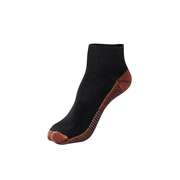 "Fatigue Reducing Miracle ""COPPER"" Ankle Socks in Black"