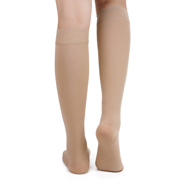 Rear View No Toe Anti-Fatigue Compression Knee High Stockings