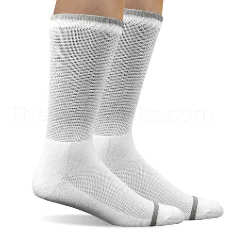 Where to Buy Men's Non-Binding Bamboo Diabetic Crew Socks in White