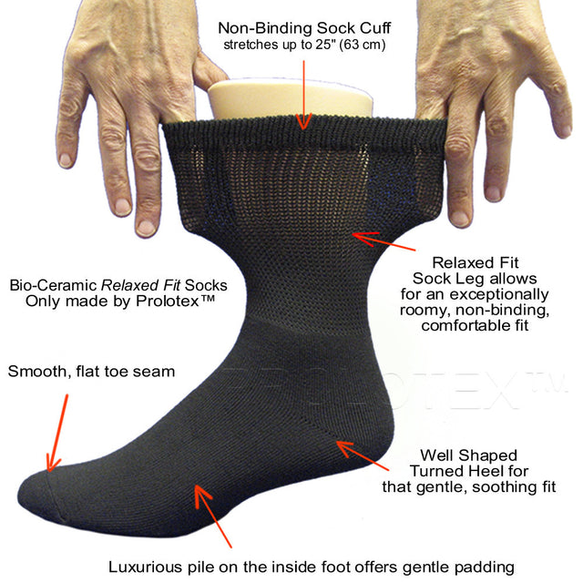 Relaxed Fit Socks for Diabetics