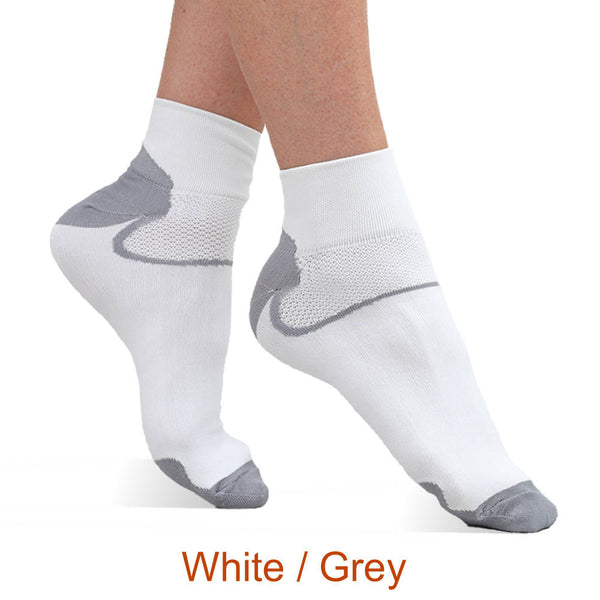 Best Circulation Infrared Quarter Crew Socks - White