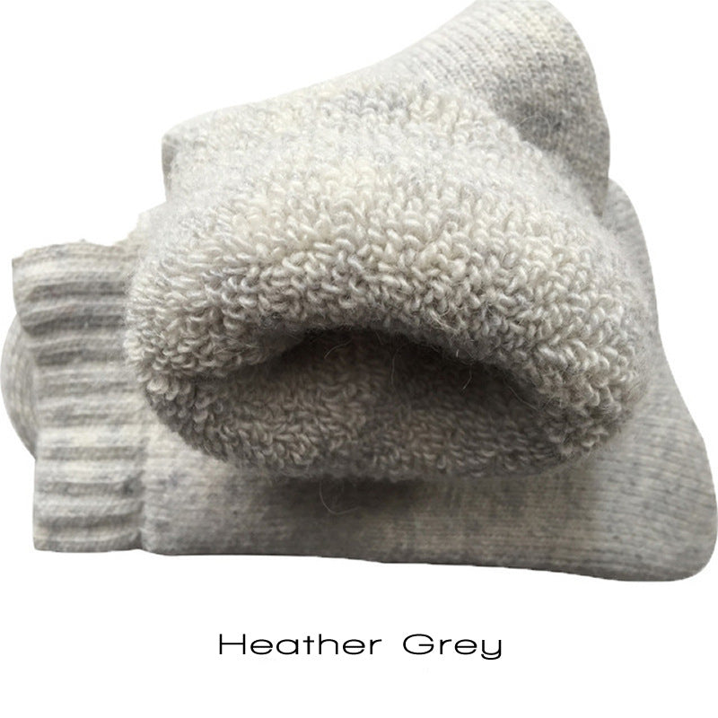 Heather Gray Super Thick Merino Wool Blend Socks