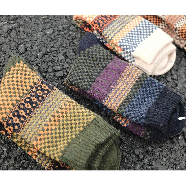 Different Colors Angora Cashmere Blend Socks