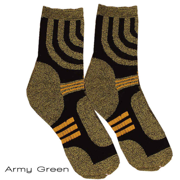 Army Green Sporty Coolmax Socks