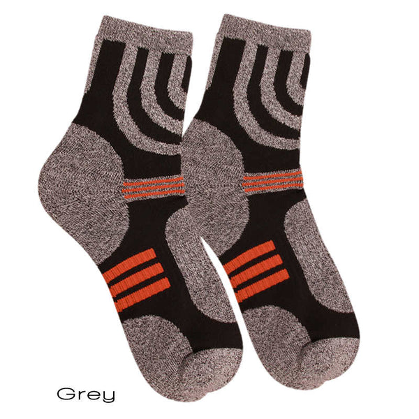 Grey Sporty Coolmax Socks Quick-Dry