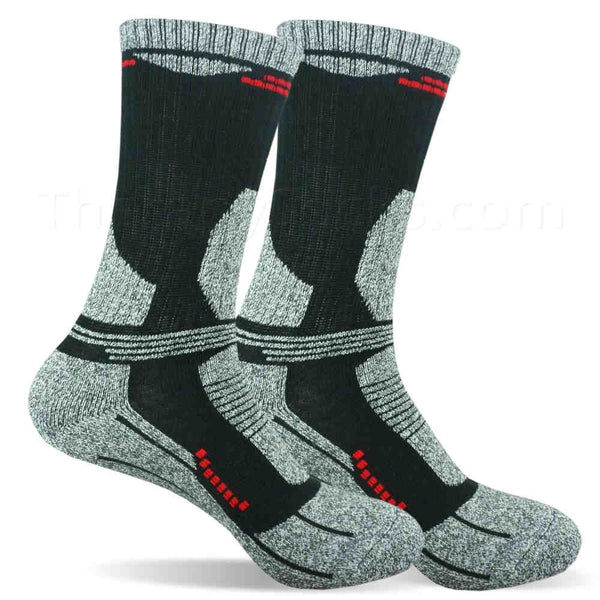 Warm Cozy Bamboo Blended Thermal Socks for Men - Black