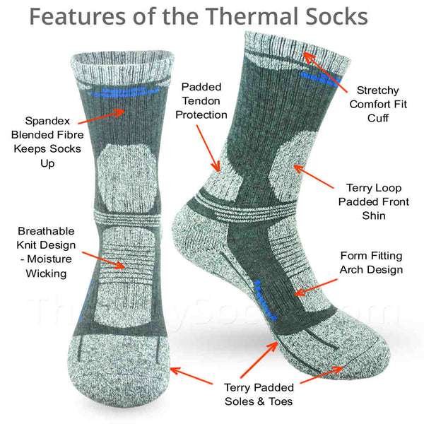 Features of the Winter Thermal Crew Socks - Socks for Cold Feet