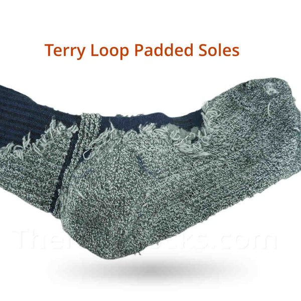 Terry Loop Padded Soles on Bamboo Thermal Winter Socks