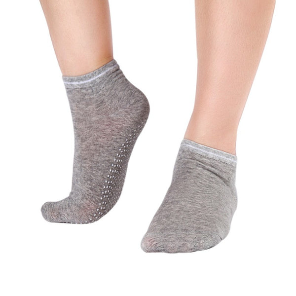 Gray Pilates Socks for Women