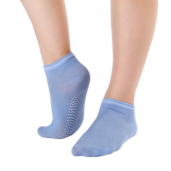 Light blue Pilates Socks for Women