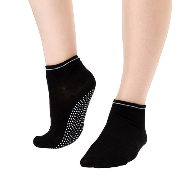 Black Pilates Socks for Women