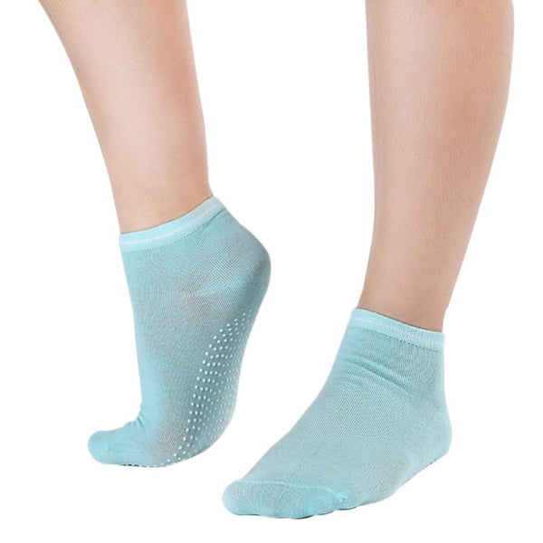 Light Green Pilates Socks for Women