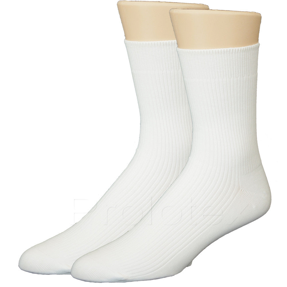 White SLIM FIT Far Infrared Socks