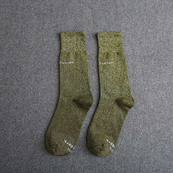 Buy Army Green Cotton Crew Socks Size Medium Large