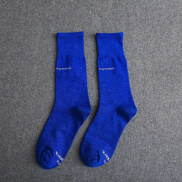 Buy Blue Cotton Crew Socks Size Medium Large