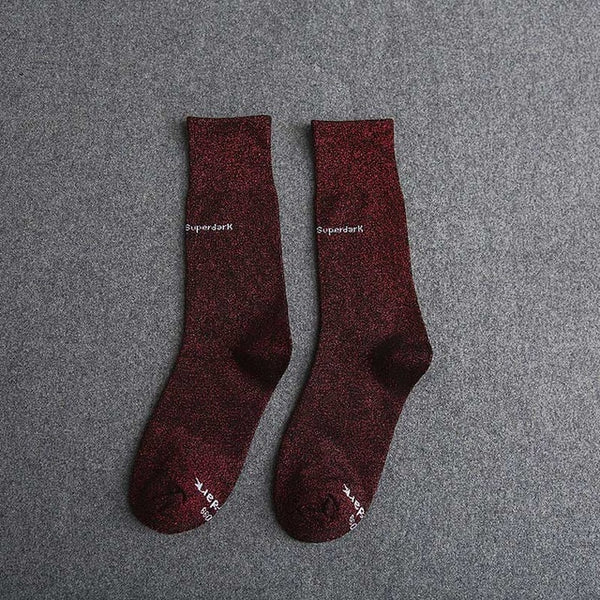 Buy Dark Red Cotton Crew Socks Size Medium Large