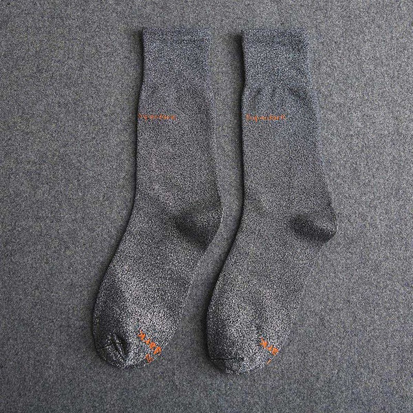 Buy Deep Gray Cotton Crew Socks Size Medium Large