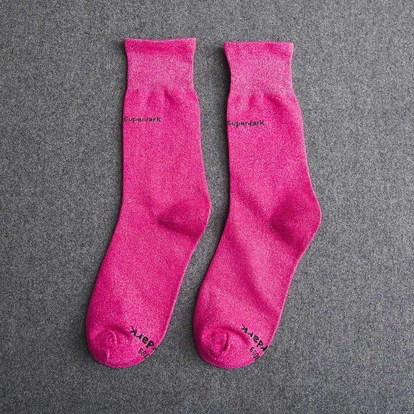 Buy Deep Red Cotton Crew Socks Size Medium Large