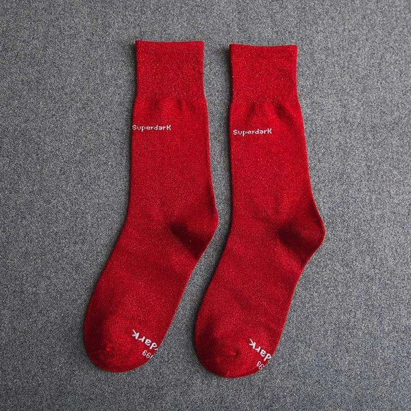 Buy Great Red Cotton Crew Socks Size Medium Large
