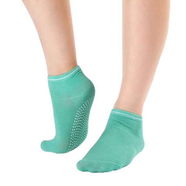 Green Non Slip Women's Therapy Pilates Socks