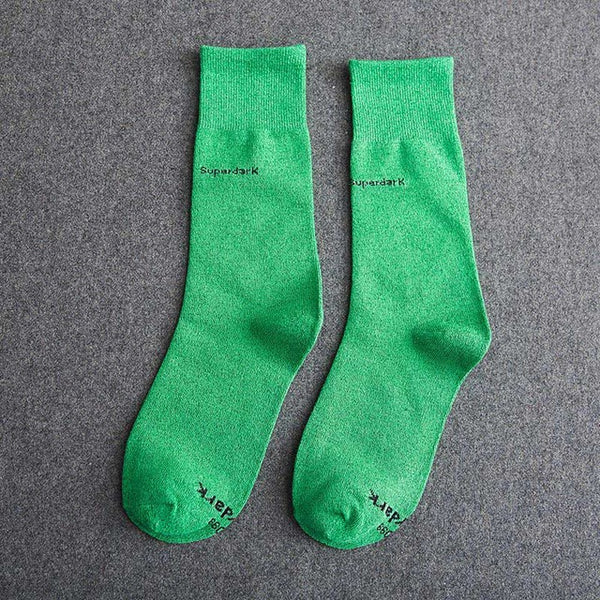 Buy Light Green Cotton Crew Socks Size Medium Large