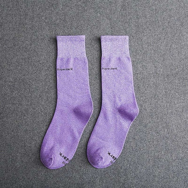 Buy Light Purple Cotton Crew Socks Size Medium Large