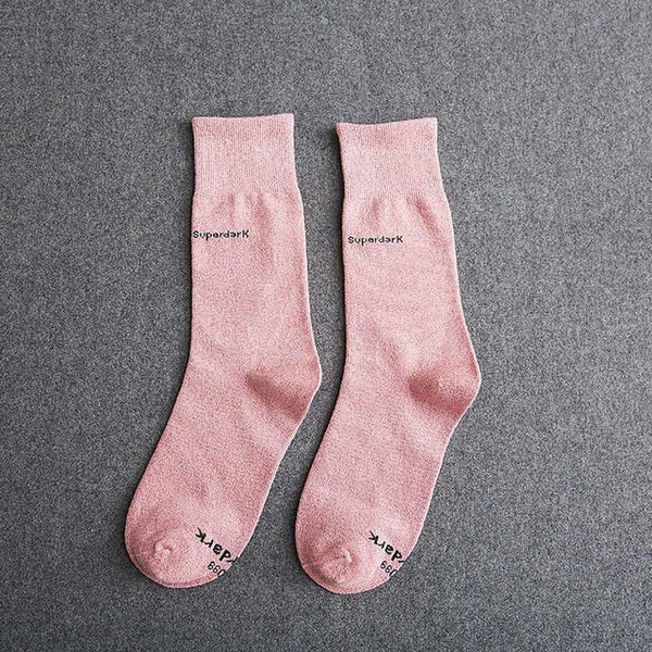 Buy Pink Cotton Crew Socks Size Medium Large