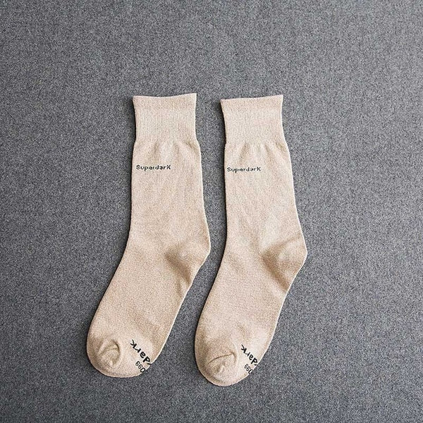 Buy Rice Colored Cotton Crew Socks Size Medium Large